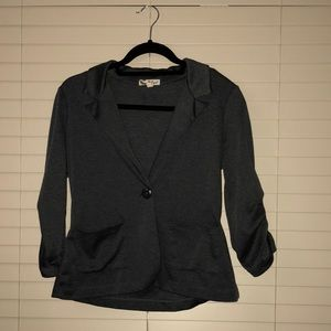About A Girl Charcoal Blazer Size Small